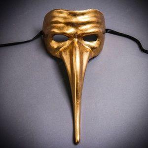 Zanni Long Nose Venetian Mardi Gras Mask Masquerad